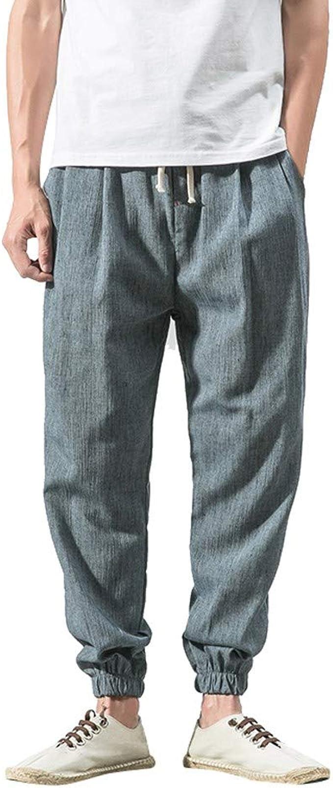 Casuales Pantalones para Hombre Cómoda Cintura Elástica Cintura ...