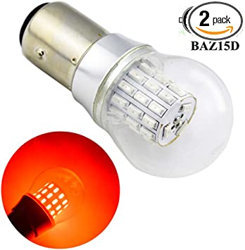 2x Bright Red 20 LED BA15D 1142 12v Light Bulbs