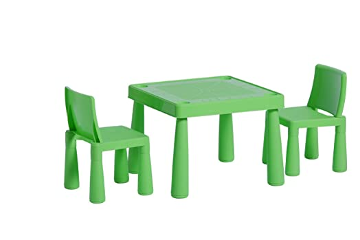 Childrens Kids Plastic Garden Outdoor Or Indoor Table and 2 Chairs Set For  Boys Or Girls. Childrens Kids Plastic Garden Outdoor Or Indoor Table and 2 Chairs