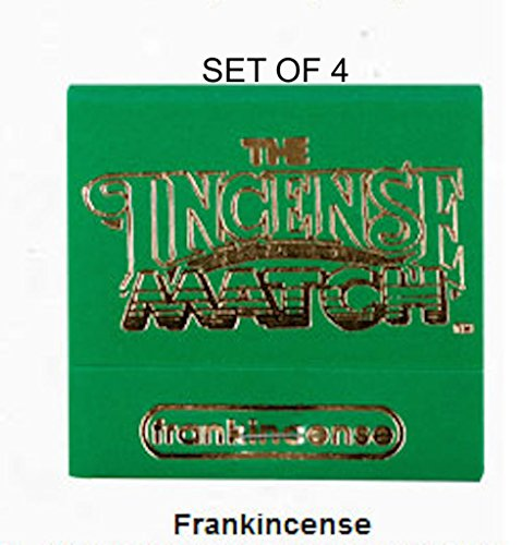 Incense Matches: Set of 4 Scented Match Books, Frankincense