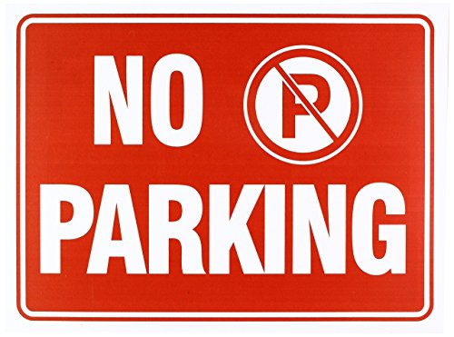 No Parking Sign 9 x 12 Inch - 4 Pack from IIT