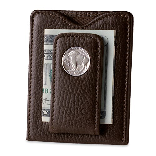 (Tokens & Icons Buffalo Nickel Money Clip Wallet (ONE SIZE, BROWN))