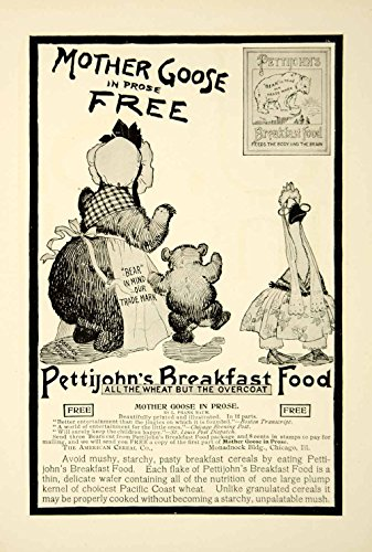 1900-ad-pettijohns-breakfast-food-mother-goose-book-bear-cub-trademark-ysn2-original-print-ad