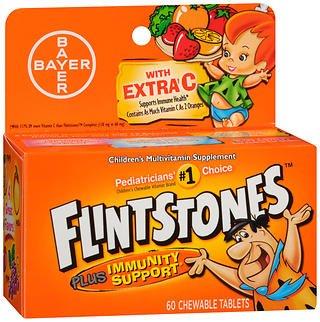 (Flintstones Chewable Tablets Plus Immunity Support 60 Tablets (Pack of 2) )