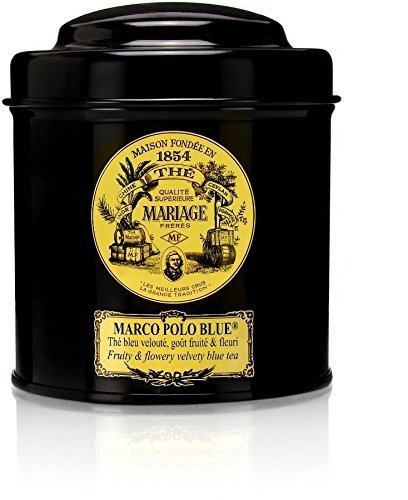MARIAGE FRERES. Marco Polo Blue, 100g Loose Tea, in a Tin Caddy (1 Pack) NEW EDITION - USA Stock