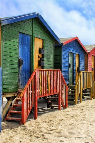 Bright Colorful Beach Huts in St James Cape Town South Africa Journal: 150 Page Lined - Huts Africa In