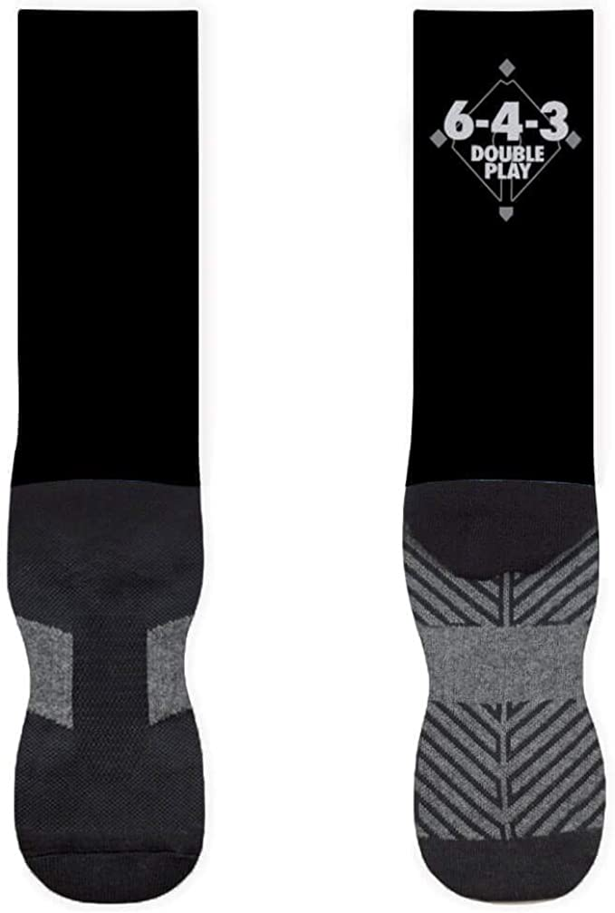 Baseball Printed Mid Calf Socks Multiple Sizes Mantra Boston