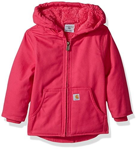 Girls Sherpa Lined Jacket (Carhartt Baby Girls Redwood Jacket Sherpa Lined, Pink Peacock,)