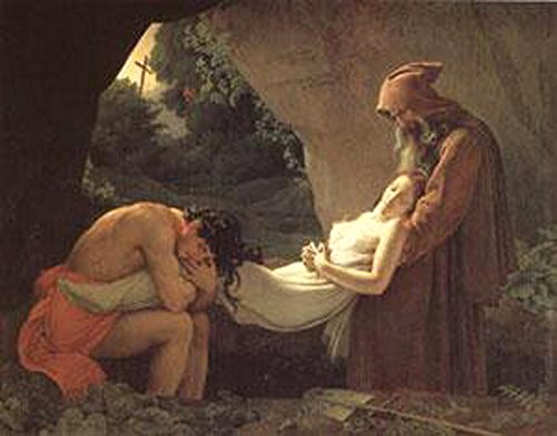 The Burial of Atala,Anne-Louis Girodet,50x40cm