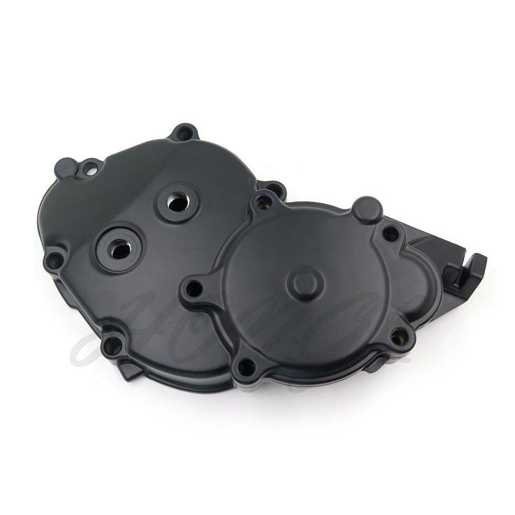 HongK- Engine Starter Case Crankcase Cover For Kawasaki Ninja ZX10R 06-10 Black US