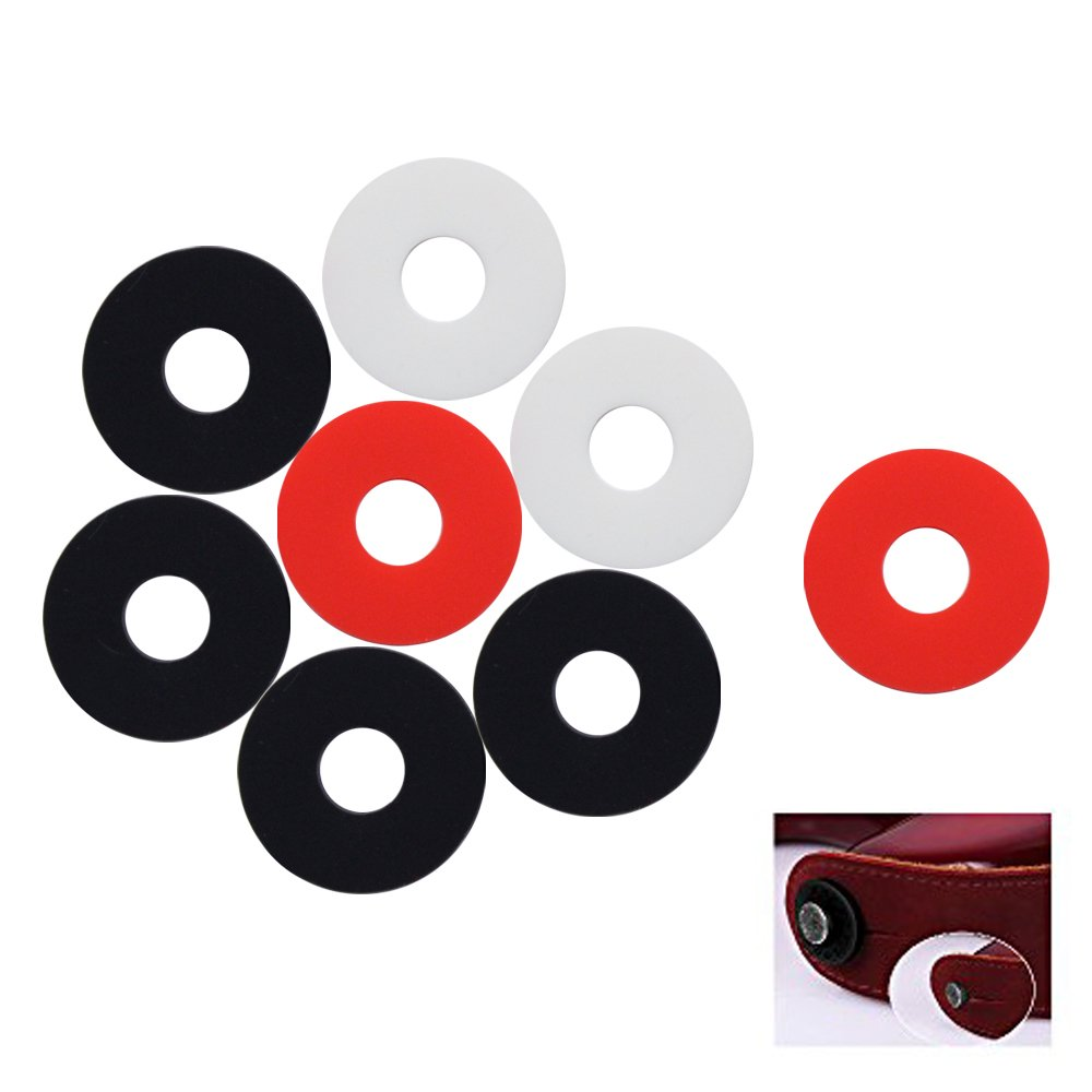 Hysagtek 8Pcs Silicone Rubber Guitar Strap Locks, 4 Black 2 White and 2 Red HysagtekS053-8X
