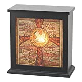Protect Me Holy Spirit Dove 8 x 8 Wood Box Night Light Table Top Decoration