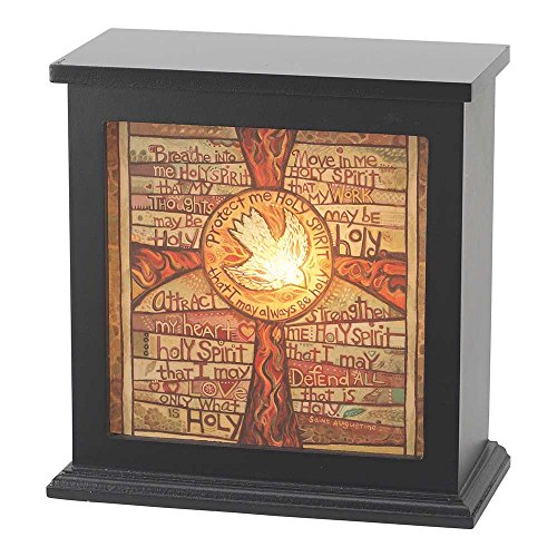 Protect Me Holy Spirit Dove 8 x 8 Wood Box Night Light Table Top Decoration by Dicksons