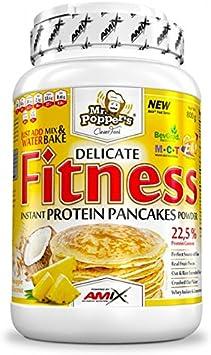 FITNESS PROTEIN PANCAKES, preparado para tortias, aislado de proteina de suero, 800g sabor arandanos y yogur – MR POPPERS