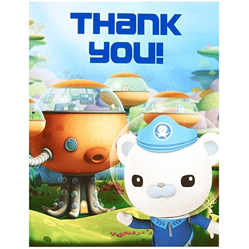 The Octonauts Party Supplies - Thank-You Notes (Tweak Octonauts Costume)