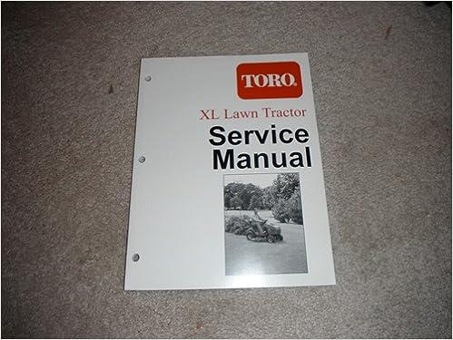 toro xl lawn tractor service manual