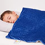 Calming Weighted Blanket for Kids - Children Heavy Blanket for Sleeping with Minky Cover - Kid Comfort Sensory Blankets Premium Quality for Boys and Girls (Blue, 7 Lbs 41