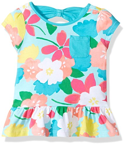 Gymboree Baby Toddler Girls' Floral Print Knit Top, Multi, 5T