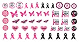 Breast Cancer Awareness Water Slide Nail Art Decals Set #3 - Salon Quality 5.5