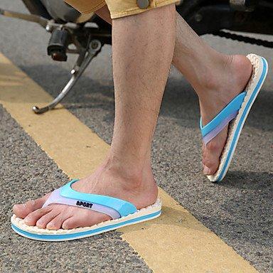 Zapatos de hombre casual Zapatillas de goma azul / verde Green