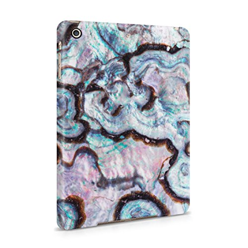 Paua Abalone Shell Marble Print Plastic Tablet Snap On Back Cover Shell For iPad Mini 2 & iPad Mini 3