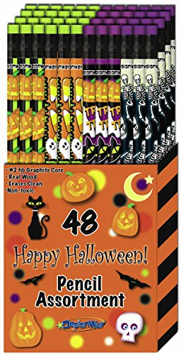 DesignWay Halloween Pencil, 48-Pack (Halloween Pencil)