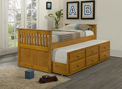 DONCO Kids 103-TH Captains Trundle Bed with A Roll Out St...