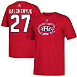 Montreal Canadiens Alex Galchenyuk Adidas NHL Silver Player Name & - XL