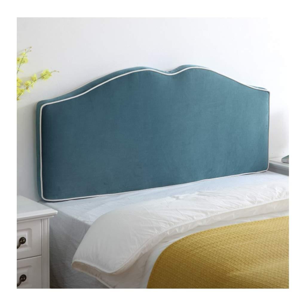 NJYT ベッドサイドクッション、ベッドなしの分解枕ソフトパックベッドクッションラージバックベッドカバーシンプル04 (色 : 青, サイズ さいず : 120*65cm) B07RVJFYLH 青 120*65cm