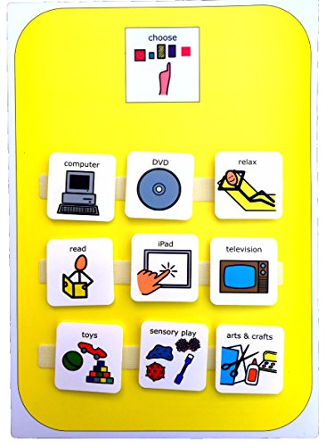 Choice Board (Autism Supplies And Developments Picture Exchange Communication System Indoor Activity Choice Board)