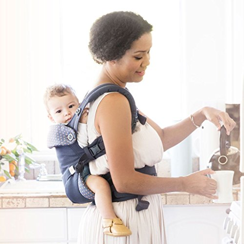 Ergobaby 4 Position 360 Carrier, Dusty Blue with Easy Snug Infant Insert, Grey by ERGObaby (Image #4)