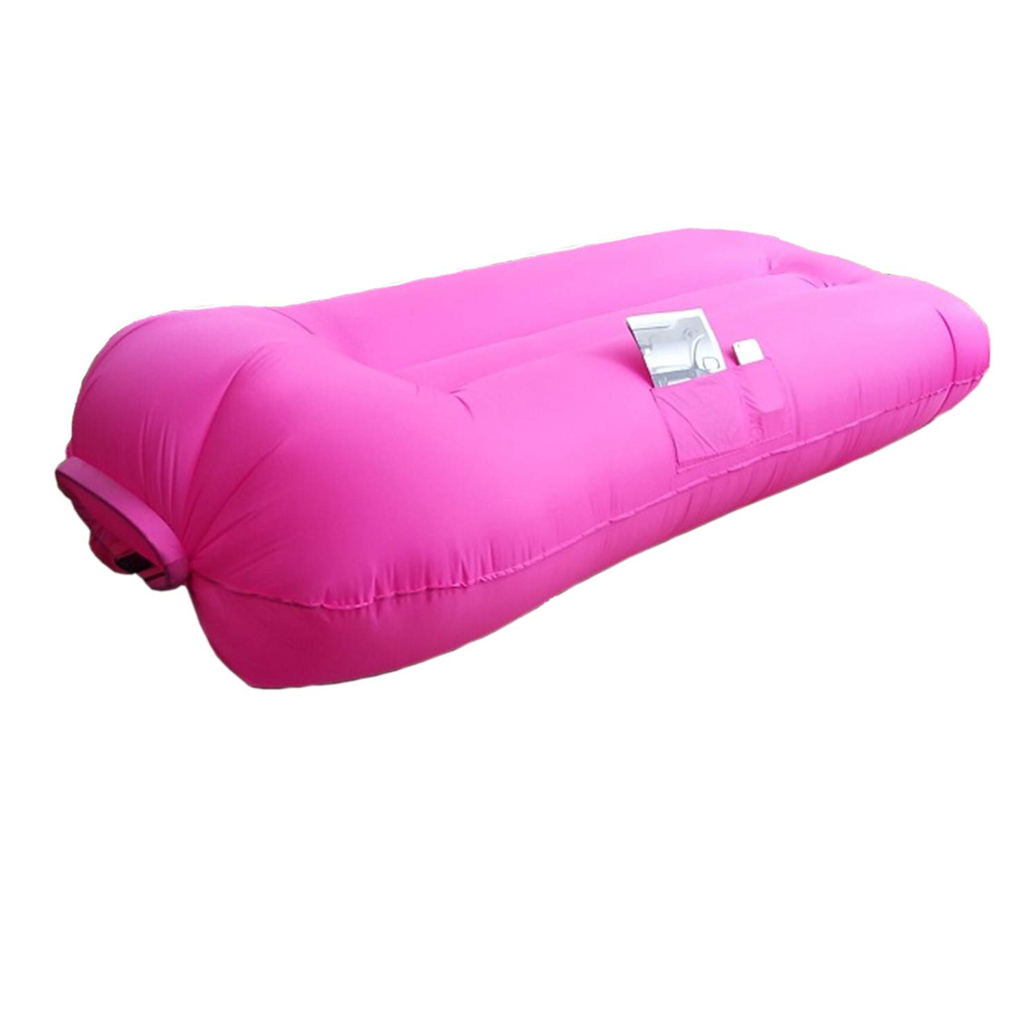 SUNSHINEMALL Inflatable Lounger Air Chair Couch Hammock, Lazy Hangout Beach Couch Camping Sofa Couch Sport Outdoor Pool Toy Float (Pink) by SUNSHINEMALL