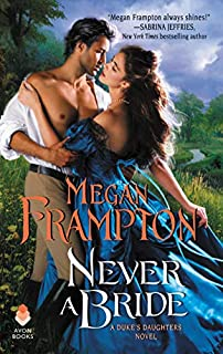 Book Cover: Never a Bride: A Duke's Daughters Novel