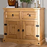 Mews Corona 2 Door 2 Drawer Small Sideboard, Mexican Pine