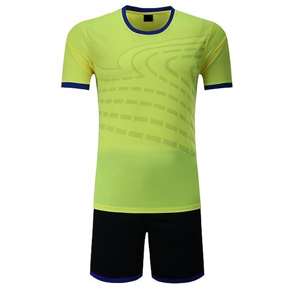 BOZEVON Kit de Fútbol para Hombres y Niños, Camisetas de Fútbol, Trajes de Entrenamiento para Competición de Fútbol, Ropa Deportiva: Amazon.es: Ropa y ...