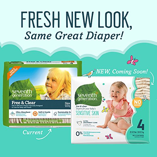Amazon.com: Seventh Generation Baby Diapers, Free and Clear for ...