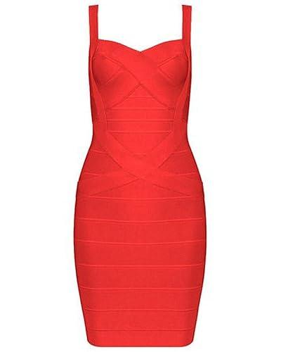 Whoinshop Women's Cute Sleeveless Rayon Bandage Bodycon Strap Dress