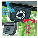 Krevia New Auto Cool Ventilation Fan Solar Powered Exhaust System Keep Your Car Cool
