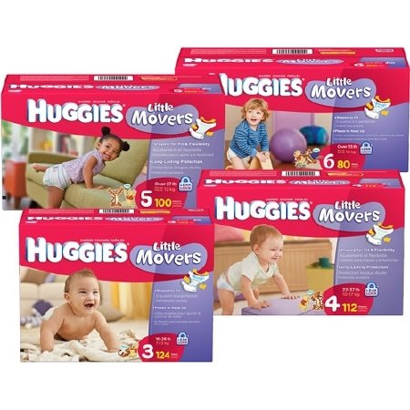 Baby Diaper Huggies - Item Number 10518CS - Size 4 - 108 Each / Case
