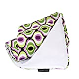 Ah Goo Baby Stroller Blanket, Spa, White/Multi, 1-Pack