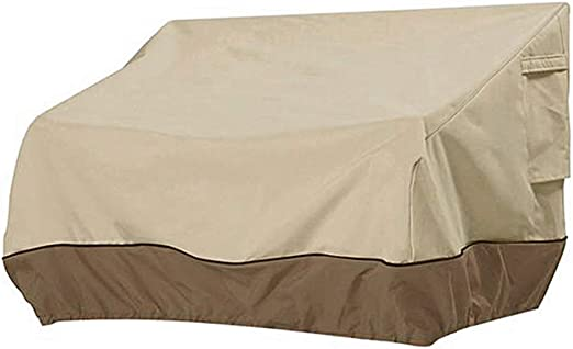 Dandelionsky - Funda de sofá exterior, 147 x 83 x 79 cm, aprox. 2 plazas, impermeable, antiviento, antipolvo, antiUV, de tela Oxford 210D: Amazon.es: Hogar