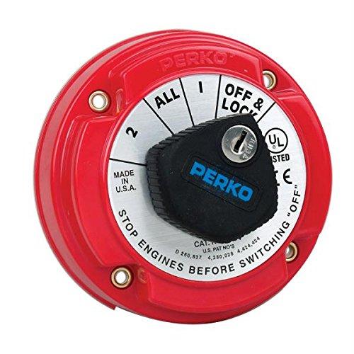 - Perko 8504DP Medium Duty Battery Selector Switch w/Alternator Field Disconnect & Key Lock