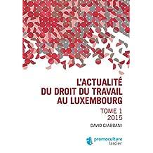 L'actualité du droit du travail au Luxembourg: Tome 1 – 2015 (LARC.HORS COLL.) (French Edition)