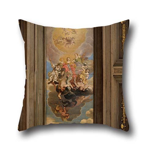 Throw Pillow Covers 20 X 20 Inch / 50 By 50 Cm(two Sides) Nice Choice For Teens,wife,dance Room,teens,kids Boys,bedroom Oil Painting Nicolaes Van Helt Stockade - Ceiling Execution (Nicolaes Van)