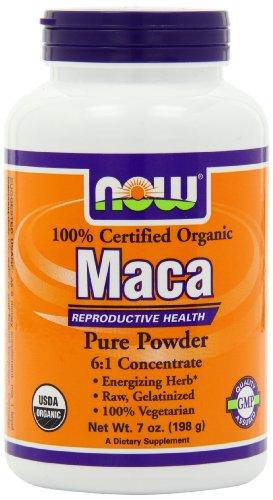 Now Foods, poudre 6:1 concentré de Maca bio, 7 onces