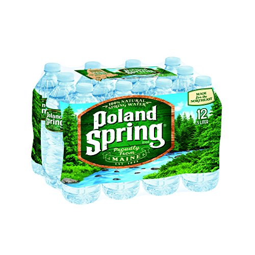 POLAND SPRING 100% Natural Spring Water, 16.9-ounce plastic bottles (Pack of 12)