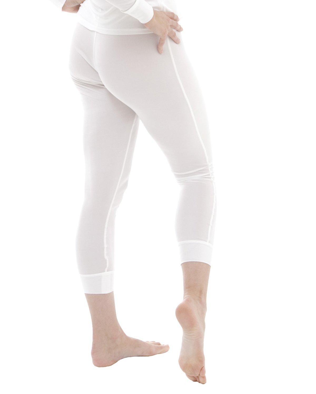 Silk thermal long johns - size: XXL - colour: ivory white