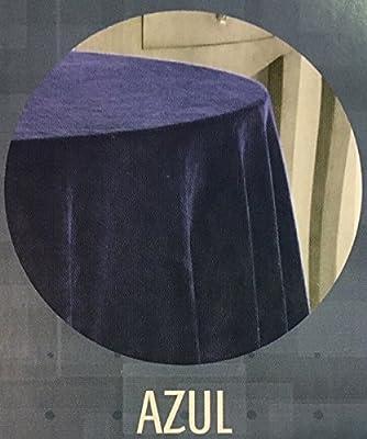 EDEN DELUXE FALDA DE MESA CAMILLA TERCIOPELO RASCHEL Color AZUL ...