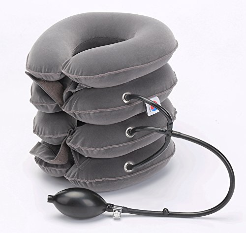 ChiFit Neck Traction - 4Layer Cervical Neck Traction Device - Neck Massager & Collar - Neck & Shoulder Pain Relief - Cervical Collar for Travel/Home Improved Spine ()