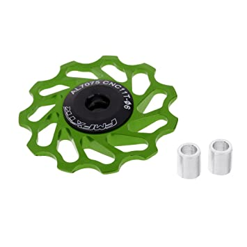 Sharplace Kit de Rueda Jockey con Cojinete de Cerámica Rodamientos Accesorio Bicicleta de Carretera MTB Mecanizada - Verde: Amazon.es: Deportes y aire libre